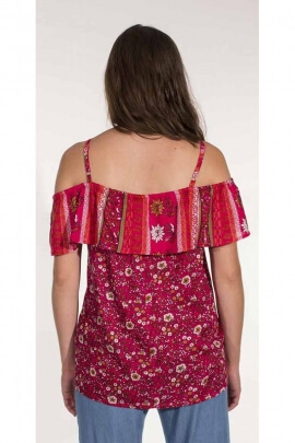 Strapless shirt style Bardot prints India
