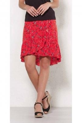 Short wrap skirt flamenco style