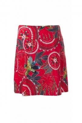 Short ethnic skirt printed rosettes mandalas