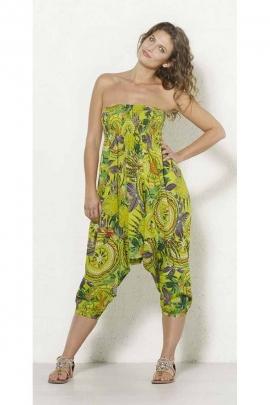 Monaco print 3 In 1 cotton harem pants