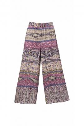 Jane print large viscose pants