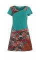 Vestido de algodón, elastano piezas telas asimétricas