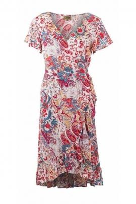 Robe au style vintage est romantique, imprimé fleurs