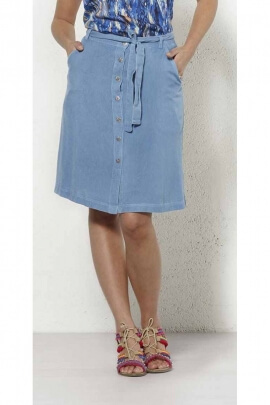 Vintage denim skirt with small buttons