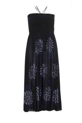 Elegant style flowing dress with thin straps