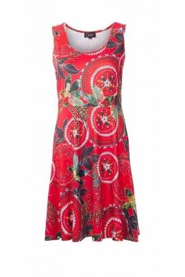 Sleeveless summer dress made of jersey material