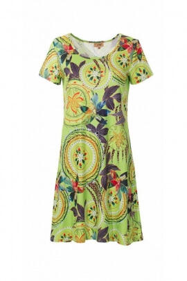 Straight cut dress slightly fitted, stretch fabric