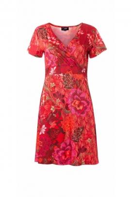 Comfortable short dress, very feminine, fine flower prints