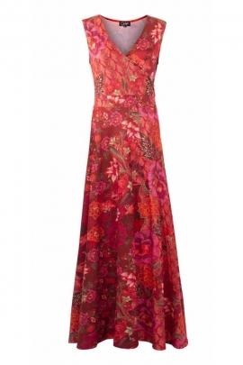 Bohemian style long dress, stretch fabric