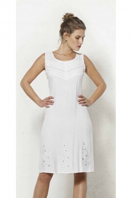 Dress seduction and delicacy, beautifully crocheted fabrics