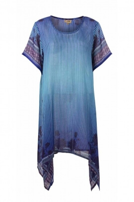 Cannicle summer dress in polyester and short sleeves