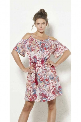 Bohemian trend dress, off shoulder, loose fit