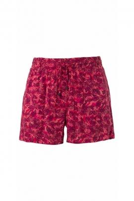 Canary printed viscose beach shorts