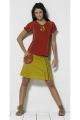 printed short skirt Aztec side pocket
