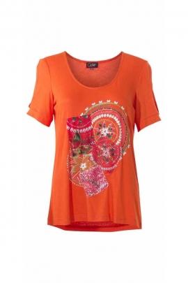 Tee-shirt manches courtes, composition très colorée