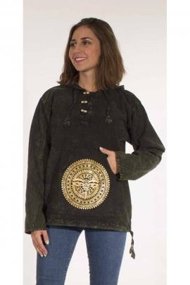 Golden Nepal printed thin cotton sweatshirt