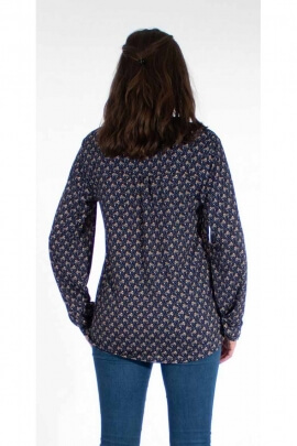 Classic fit blouse printed graphic trends