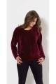 Warm velvet sweater, casual sportswear look