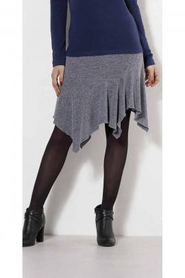 Flamenco style asymmetrical winter skirt