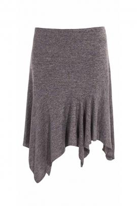 Falda asimétrica de invierno estilo flamenco