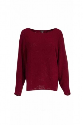Suéter de punto de chenilla de poliéster original