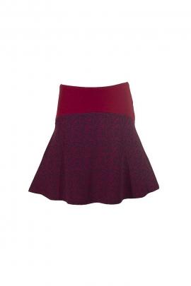 short wide belt mesh skirt