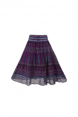 Indian cotton voile skirt lined