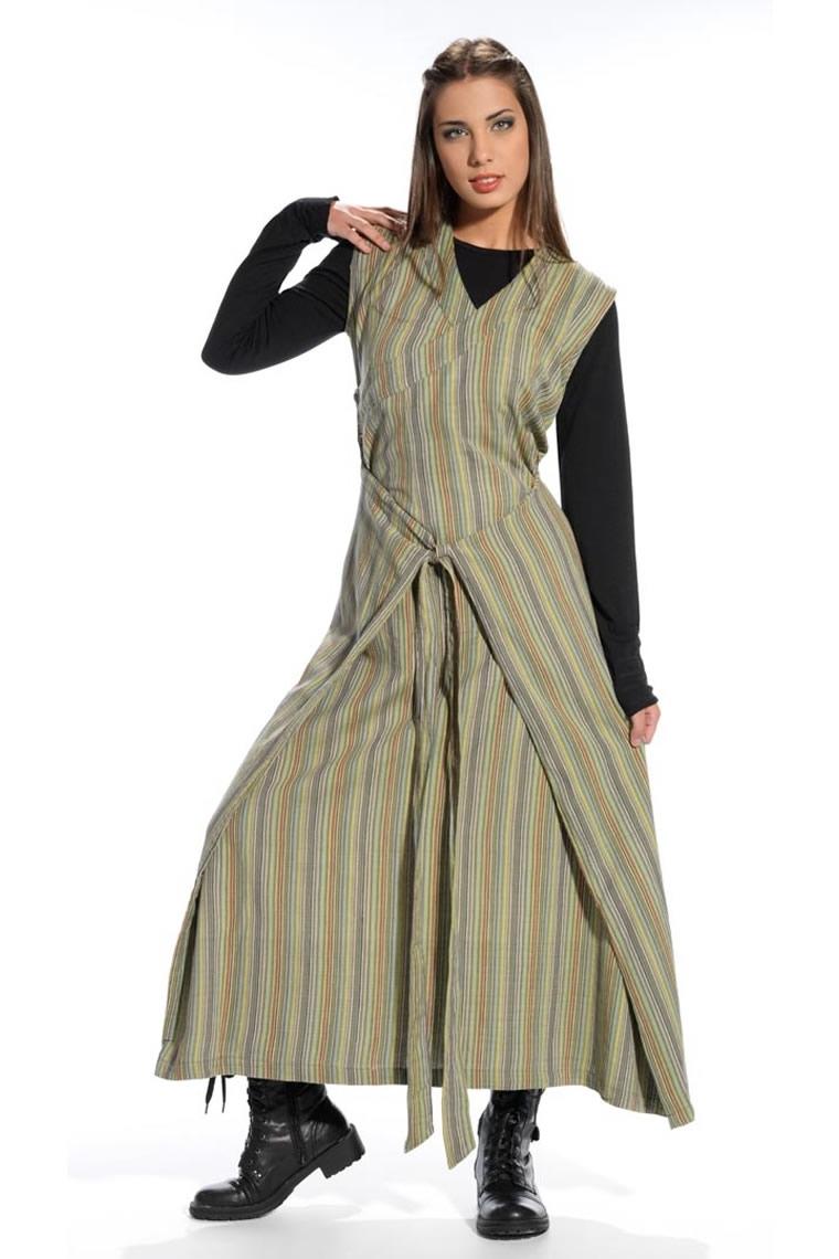 b99566325c915 Robe longue coton de style ethnique et original, robe au look unique