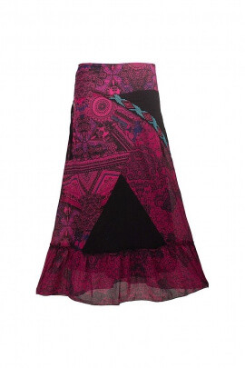 Skirt length veil lined cotton patch
