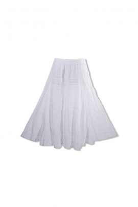 long skirt embroidered patch