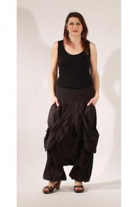 Sarouel coton larges poches ceinture élastique