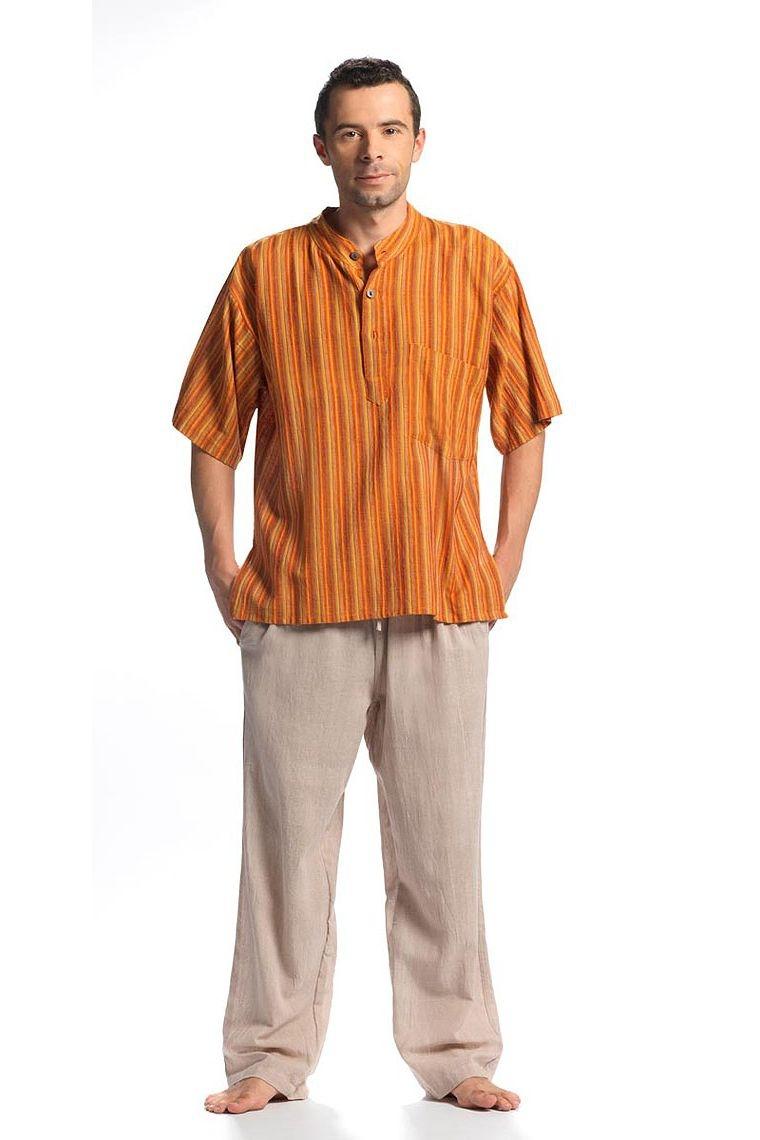 pantalon homme coton en toile naturelle cru 100 coton. Black Bedroom Furniture Sets. Home Design Ideas