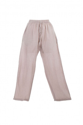 Man cotton natural canvas trousers