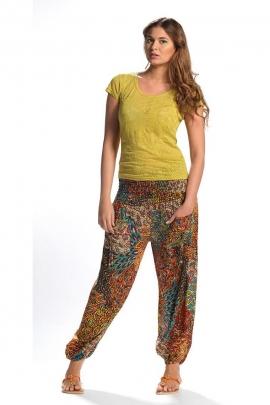 sarouel pants printed pen pockets