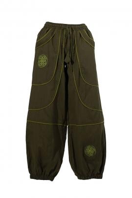 Sarouel pantalon homme coton brodé poches