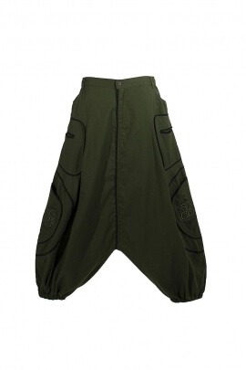 sarouel pants cotton embroidery Celtic man