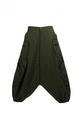 sarouel pants cotton embroidery Celtic man
