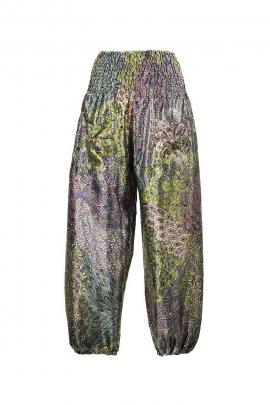 baggy pants woman printed polyester pen