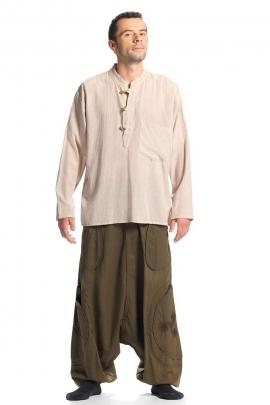 Cotton kurta shirt man united long sleeves