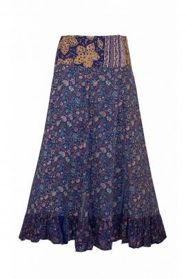 Sari long skirt ruffles down