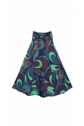 Long mesh patterns fifties skirt