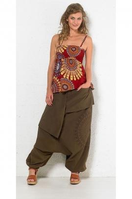 Harem pants female cotton roundel
