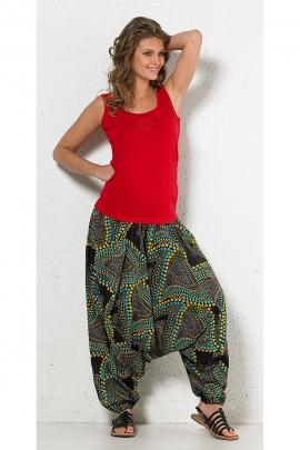 Pantalones Harem, 3 en 1 de algodón impreso confeti