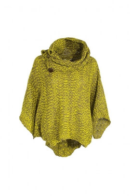 poncho sweater wooden buttons