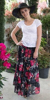 Trendy ethnic skirts for spring-summer