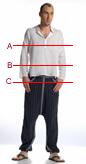 Men's bust size chart